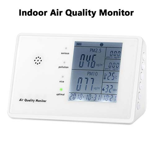 2. Air Quality Monitor for PM2.5/PM10 HCHO TVOC Temperature Humidity YVELINES Professional Multifunctional Air Detector