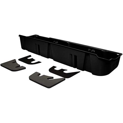 5. DU-HA Under Seat Storage Fits 09-14 Ford F-150 SuperCrew without Subwoofer, Black, Part #20075