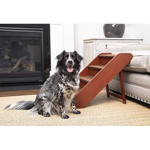 10. PetSafe Solvit PupSTEP Wood Pet Stairs for Dogs and Cats