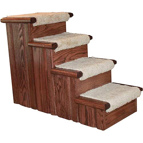 8. Premier Pet Steps Tall Raised Panel Dog Steps, Carpeted Tread