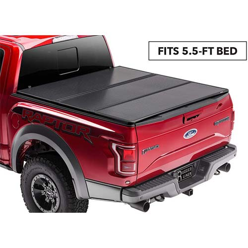 9. Rugged Liner Premium Hard Folding Truck Bed Tonneau Cover | HC-F5515