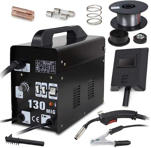 4. Super Deal PRO Commercial MIG 130 AC Flux Core Wire Automatic Feed Welder Welding Machine