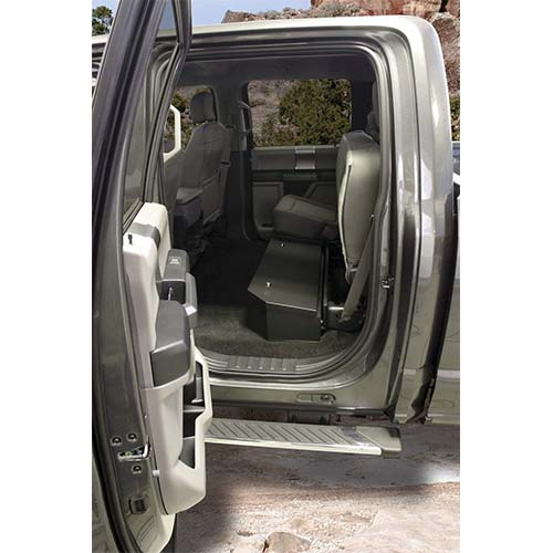 4. Tuffy 316-01 Full Width under Rear Seat Lockbox for Ford F150 Crew Cab 2015+
