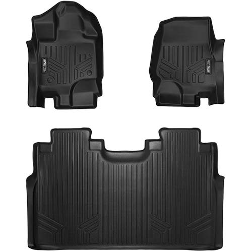 7. MAXLINER Floor Mats 2 Row Liner Set Black for 2015-2018 Ford F-150 SuperCrew Cab