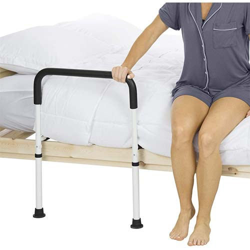 8. Vive Bed Assist Rail - Adult Bedside Standing Bar for seniors, Elderly, Handicap, Kid