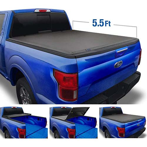 2. Tyger Auto Top T3 Soft Tri-Fold Truck Tonneau cover