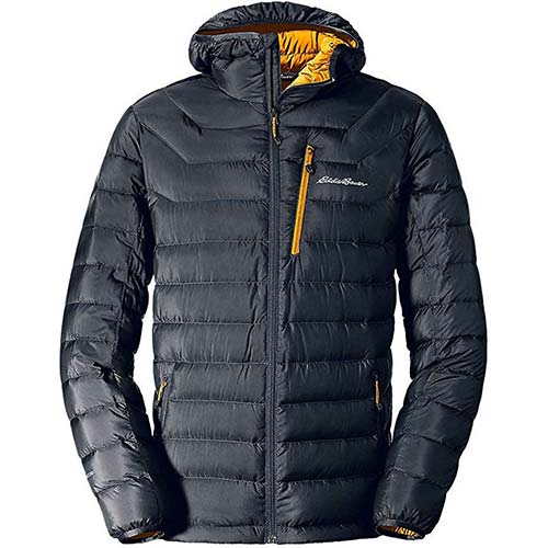 9. Eddie Bauer Men's Downlight Hooded Jacket