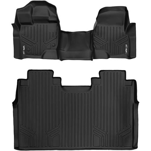 8. MAXLINER Floor Mats 2 Row Liner Set Black for 2015-2018 Ford F-150 SuperCrew Cab