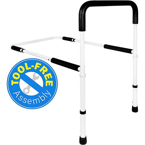 5. Medical Adjustable Bed Assist Rail Handle and Hand Guard Grab Bar