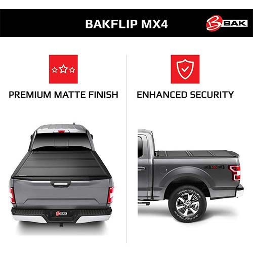 1. BAK BAKFlip MX4 Hard Folding Truck Bed Tonneau Cover
