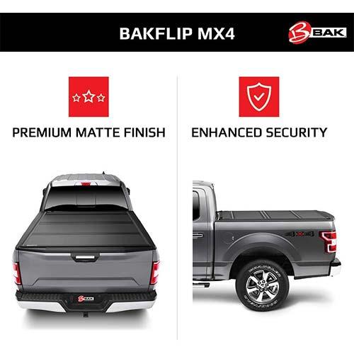 1. BAK BAKFlip MX4 Hard Folding Truck Bed Tonneau Cover