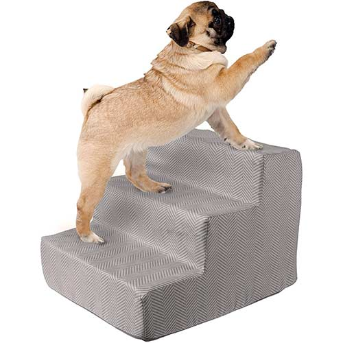 1. PETMAKER High Density Foam 3 Tier Pet Steps