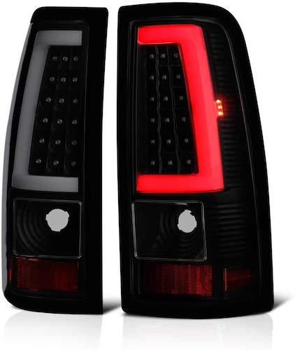 6. VIPMOTOZ Neon Tube LED Tail Light Lamp Assembly For 1999-2002 Chevy Silverado & 1999-2006 GMC Sierra 1500 2500 3500