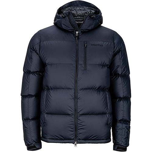 1. Marmot Men's Guides Down Hoody Winter Puffer Jacket, Fill Power 700