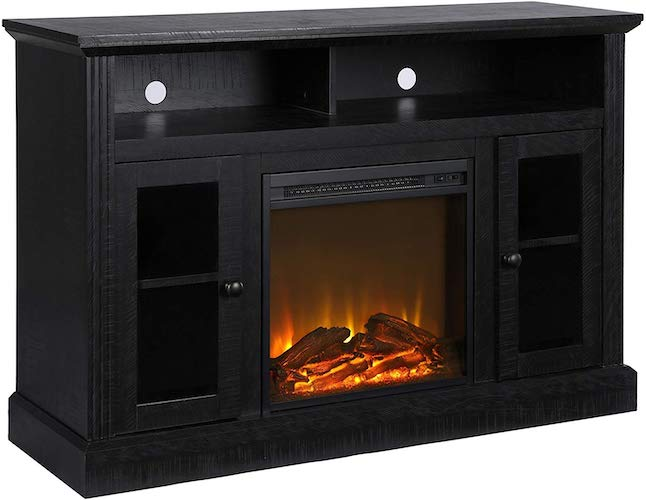 3. Ameriwood Home Chicago Fireplace TV Stand for TVs up to 50
