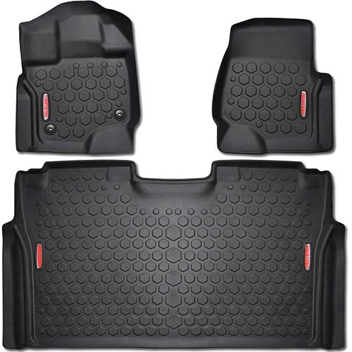 10. 2015 - 2017 Ford F-150 Floor Mats Fits Crew Cab F150 Trucks in 2015, 2016 & 2017 Models