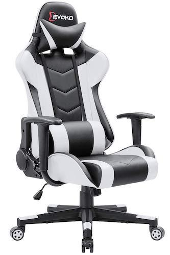 6. Devoko Ergonomic Gaming Chair Racing Style Adjustable Height High-Back PC Computer Chair