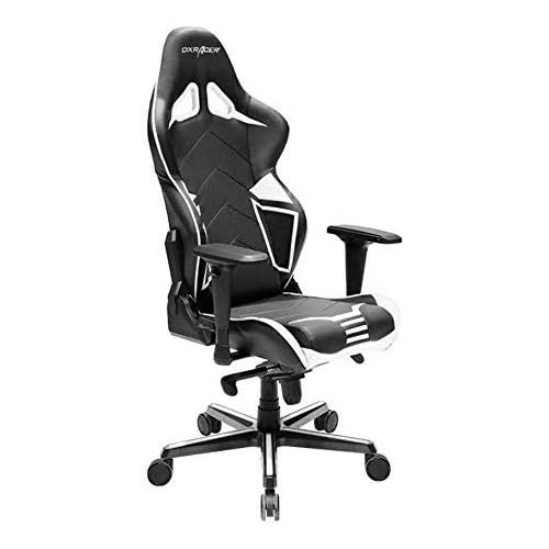 6. DXRacer Racing Series PU Leather OH/RV131/NW Racing Seat Office Chair Gaming Ergonomic Adjustable Computer Chair