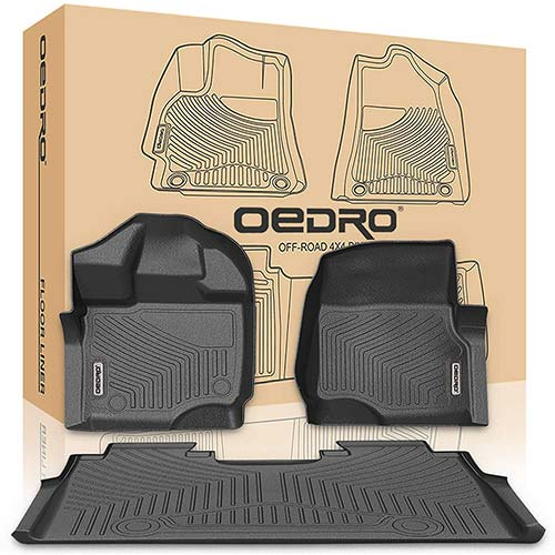 5. oEdRo Floor Mats Liners Compatible for 2015-2019 Ford F-150 SuperCrew Cab