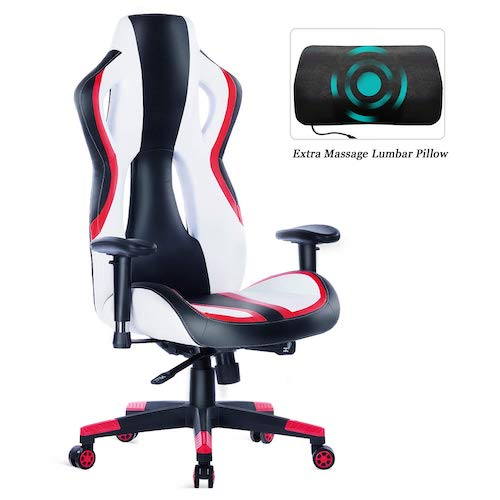 5. HEALGEN Gaming Chair Racing Style High-Back PU Leather Office Chair