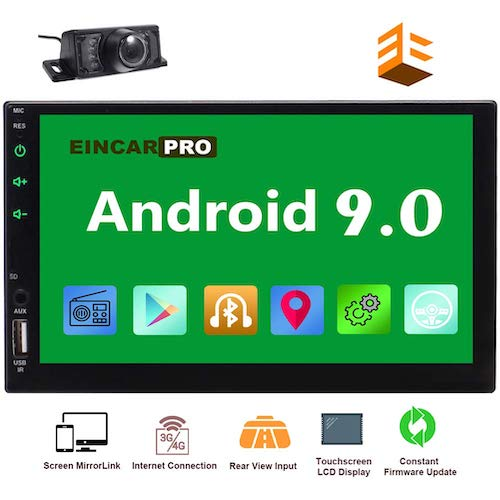 10. EinCar Car Radio Double Din Android 9.0 Car Stereo 2 Din GPS Navigation 7 inch Touch Screen Bluetooth Head Unit In Dash Quad Core 16GB Support SWC WiFi Mirrorlink 1080P FM Video Player