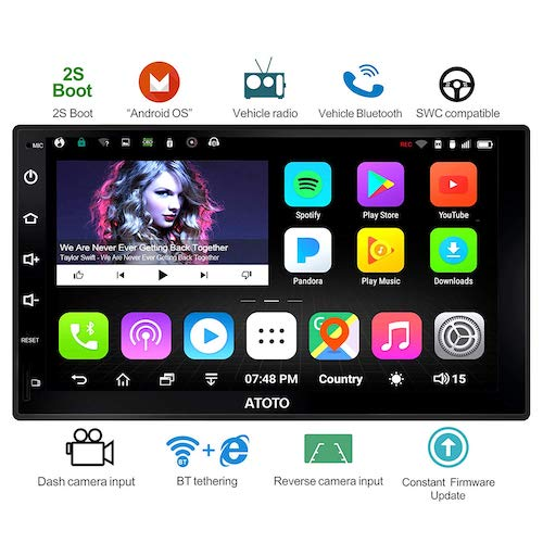6. ATOTO A6 Universal 2 Din Android Car Navigation Stereo with Dual Bluetooth - Standard A6Y2710S 1G/16G Car Entertainment Multimedia Radio, WiFi/BT Tethering Internet, Support 256G SD &More