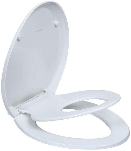 10. Comfort Seats C1B4E290 Deluxe Molded Wood Toilet Seat
