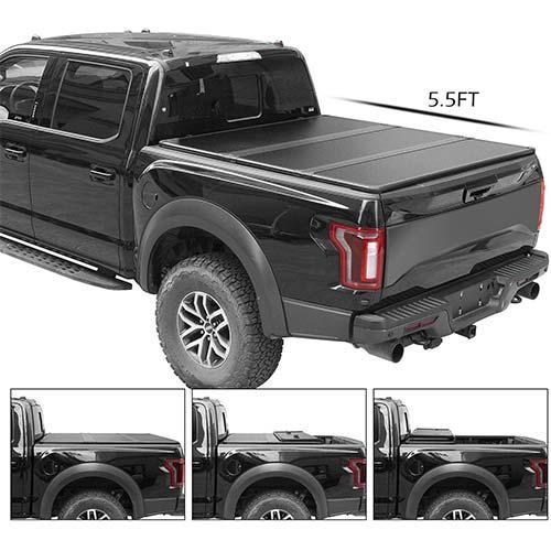 6. TURBO SII Tri-Fold Truck Bed Tonneau Cover