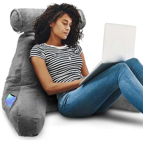 9. Springcoo Reading Pillow-Shredded Foam Reading Pillow
