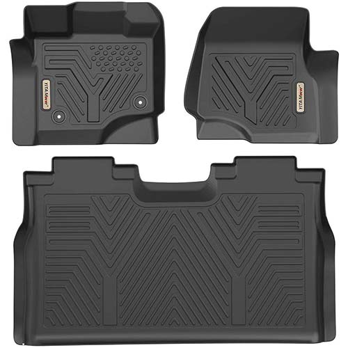 4. YITAMOTOR Floor Mats for F150, Custom Fit Floor Liners for 2015-2019 Ford F-150 SuperCrew Cab