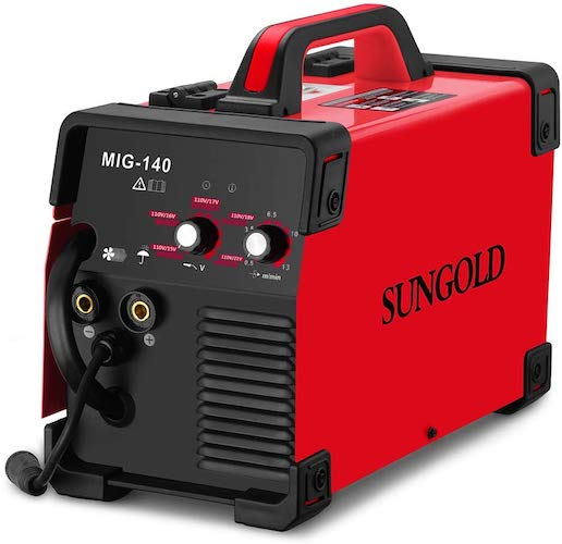 5. SUNGOLDPOWER MIG Welder 140A Gas and Gasless Welding 110/220V Dual Voltage IGBT DC Inverter Welding Machine