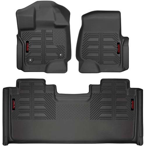 2. Gator 79610 Black Front and 2nd Seat Floor Liners Fits 15-19 Ford F-150 SuperCab