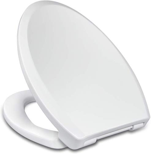 6. Elongated Toilet Seat with Easy Clean & Quick Release