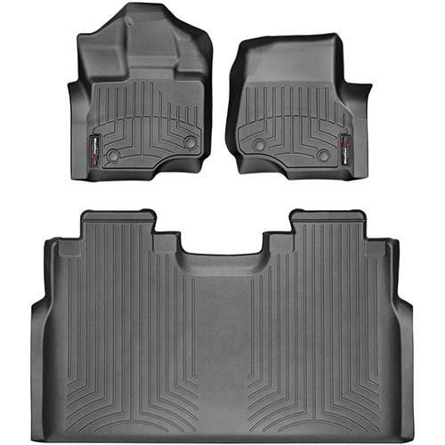 9. WeatherTech Custom Fit FloorLiner for Ford F-150-1st & 2nd Row