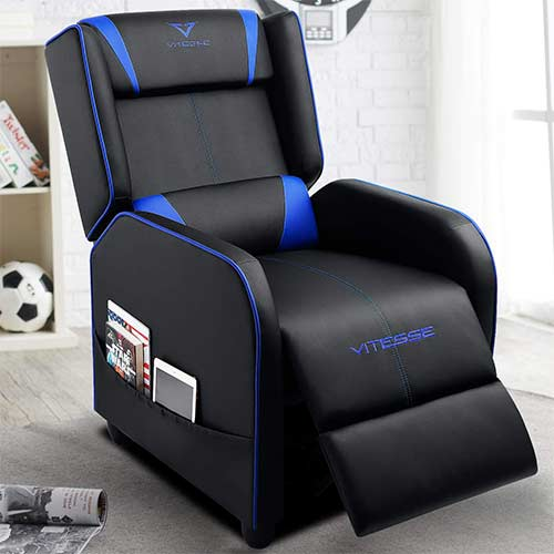 4. VIT Gaming Recliner Chair Racing Style Single PU Leather Sofa Modern Living Room Recliners