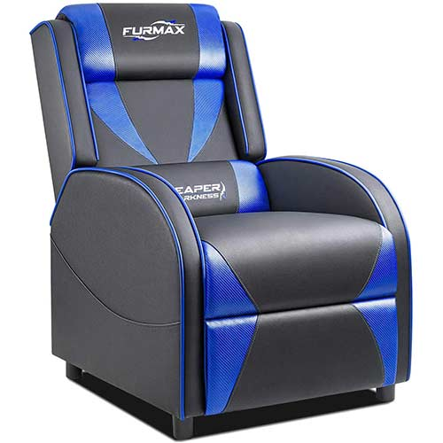 10. Furmax Gaming Recliner Chair Racing Style Single Ergonomic Lounge Sofa PU Leather Reclining Home Theater Seat for Living Room
