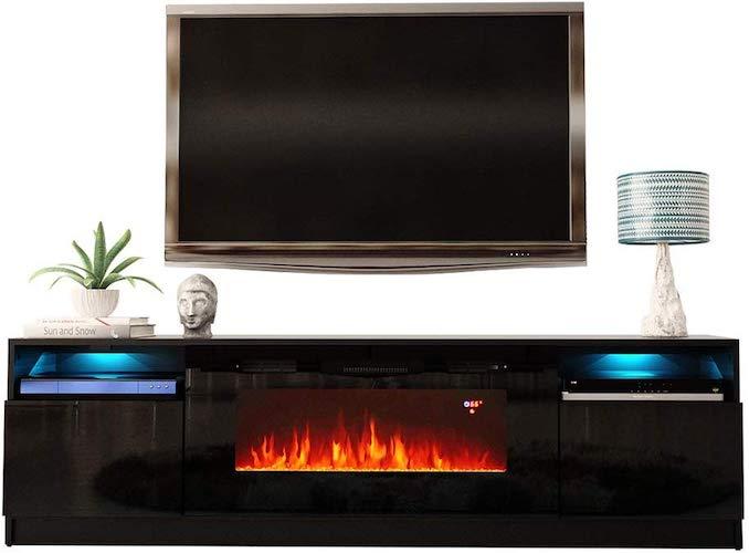 7. MEBLE FURNITURE & RUGS York 02 Electric Fireplace Modern 79