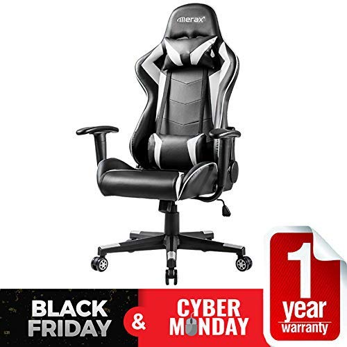 10.Merax Gaming Chair Computer Home Desk Chair Racing Comfy Office Chair