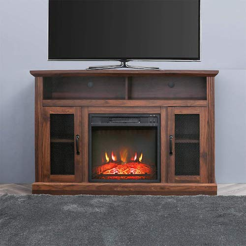 4. Top Space Fireplace TV Stand Electric fire Place heaters Entertainment Center Corner tv Console with fireplaces for TVs up to 50
