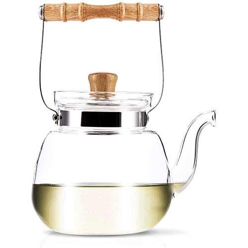 4. YAMA GLASS YAMT17 Teapot and Water Kettle 40 oz