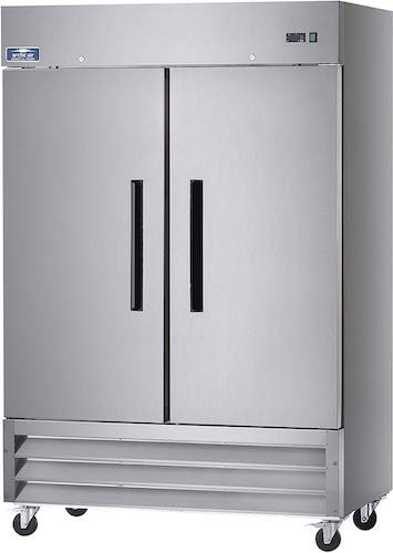 7. Arctic Air AF49 Two Section Reach-in Commercial Freezer - 49 cu. ft.