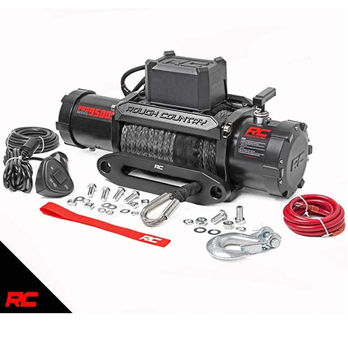7. Rough Country 9,500 LB PRO Series Electric Winch