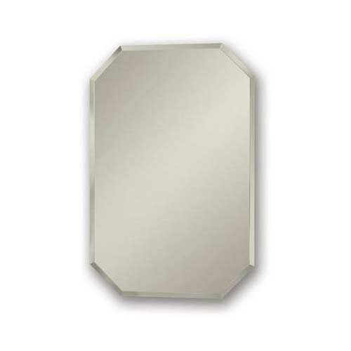 9. Jensen 1454 Mirage Octagonal Frameless Medicine Cabinet with Beveled Mirror