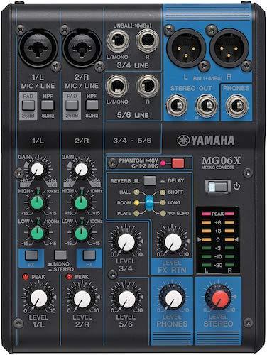 4. Yamaha Mg06X 6-Input Digital Stereo Mixer