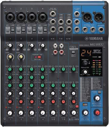 6. Yamaha Mg 10Xu 10-Input Stereo Mixer