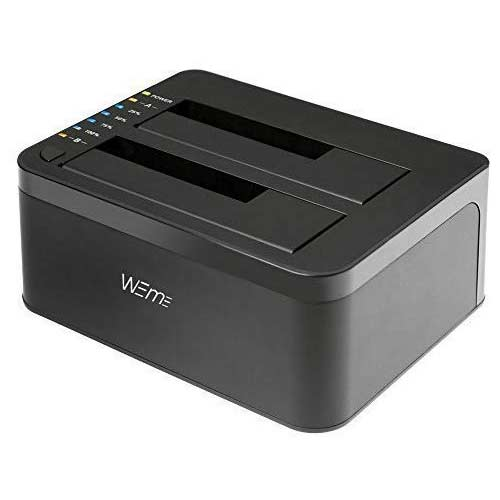 5. WEme USB 3.0 to SATA Dual-Bay External Hard Drive Docking Station