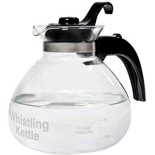 3. CAFÉ BREW COLLECTION 12 Cup Stovetop Whistling Tea Kettle