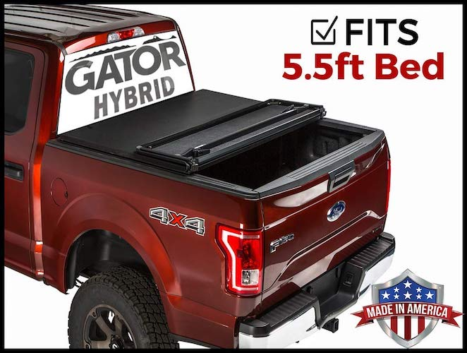 9. Gator Hybrid Hard Folding (fits) 2014-2019 Toyota Tundra 5.5 FT Bed