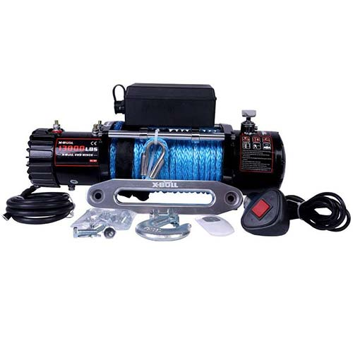9. X-BULL 12V Waterproof Synthetic Rope Winch