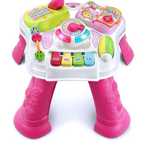 3. VTech Sit-To-Stand Learn & Discover Table